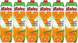 【送料込み】Malee 100%タンジェリンオレンジジュース6本セット