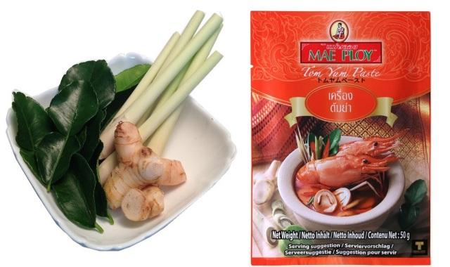 トムヤムクン料理セット (ペースト +ト ムヤムクン野菜セット)