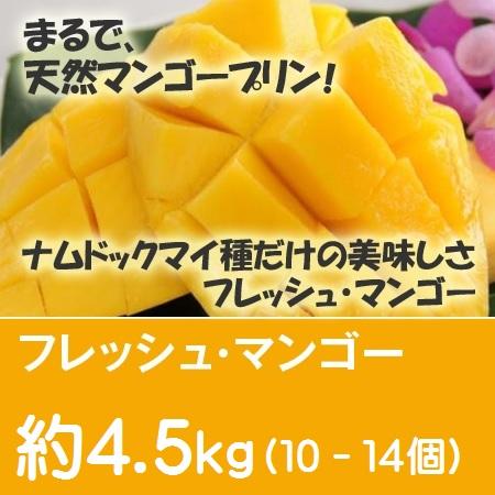 フレッシュ・マンゴー 約4.5Kg(10個~14個)