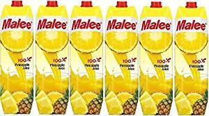 【送料込み】Malee 100%パイナップルジュース6本セット