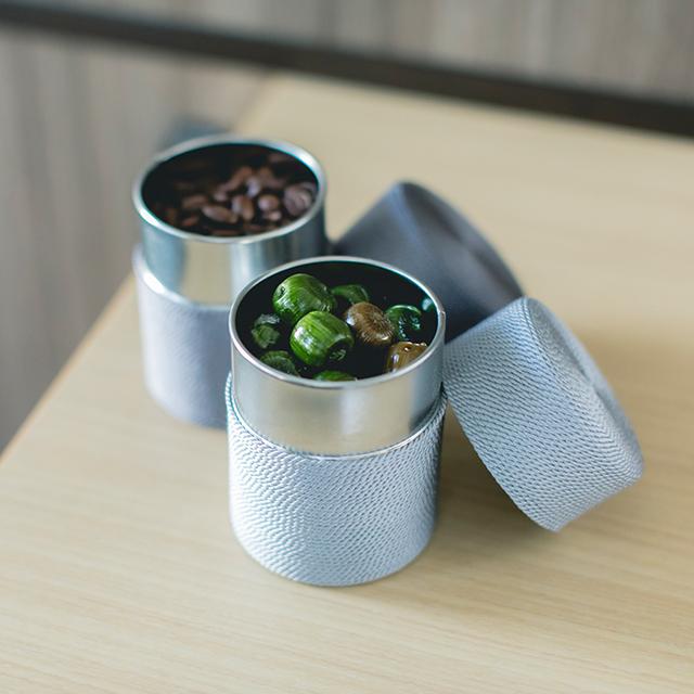 TEA CAN 糸巻きお茶缶
