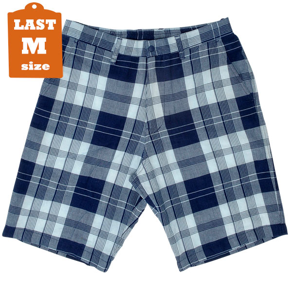 【MANASTASH】 MADRAS SUNDAY SHORTS (Indigo)