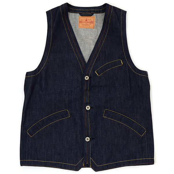 【SOUTH WEST】 ARCH VEST (Indigo) [26001011]