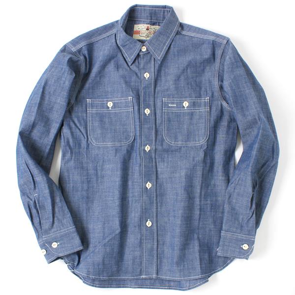 【最終生産】【SOUTH WEST】(サウスウェスト) シャンブレーシャツ ホワイトボタン [26001020]