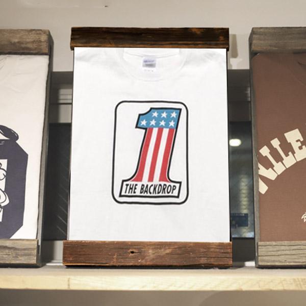 【BACKDROP】(バックドロップ) Tシャツ ヴィンテージ ウッドフレーム [オンラインショップ限定]