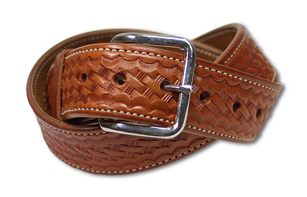【ALFONSO】 BASKET WEAVE BELT (Brown) [10040010]