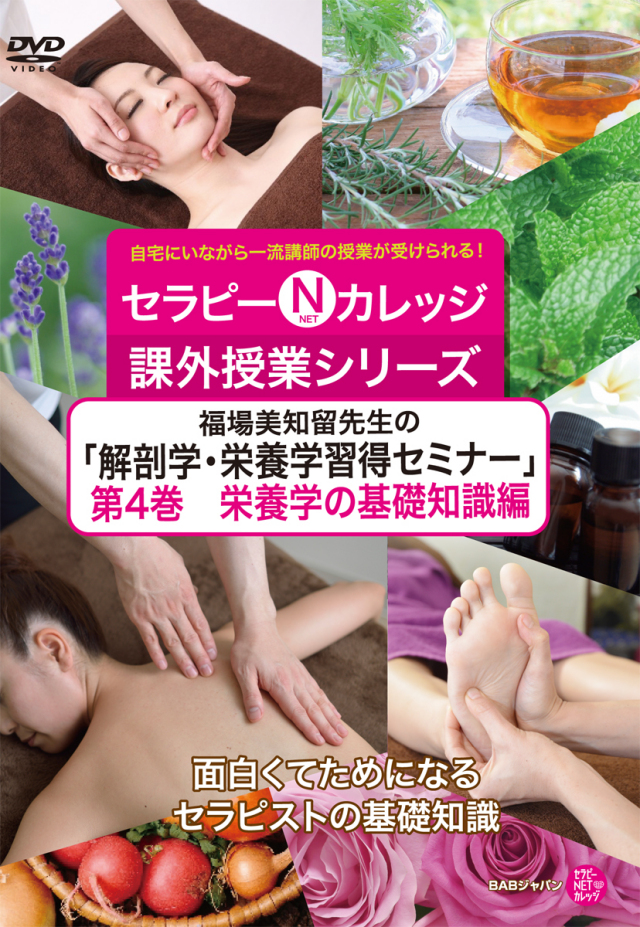 DVD 福場美知留先生の「解剖学・栄養学習得セミナー」第4巻 栄養学の基礎知識編