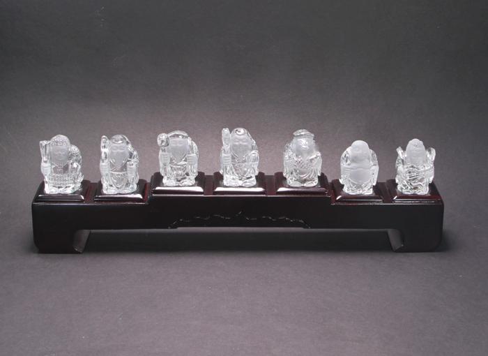 特価!縁起物!七福神の水晶セット   【天然石・パワーストーン】
