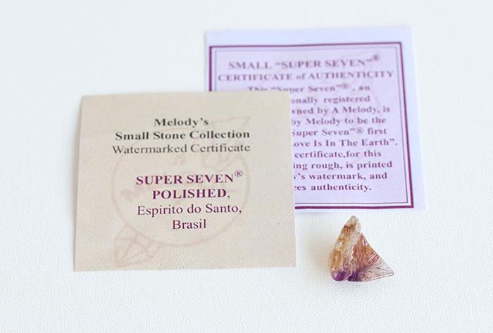 【Melody♪コレクションカード・証明書付】A.Melody♪のスーパーセブン  2      /mel 【パワーストーン,天然石】