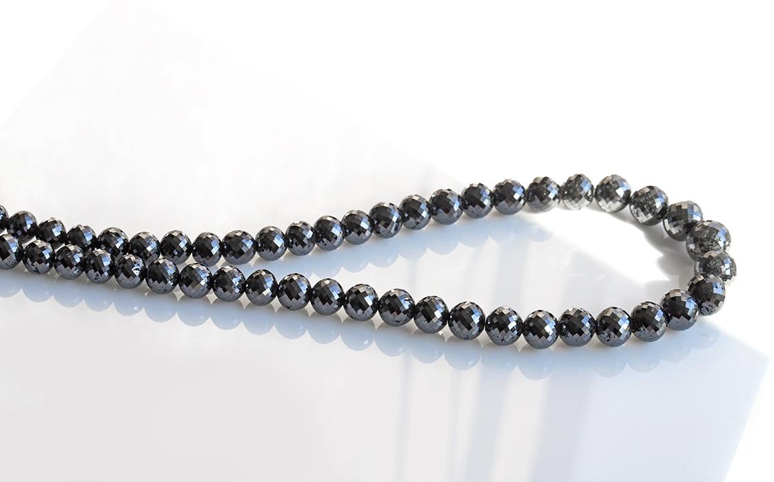 限定!高品質ブラックダイアモンド(ダイヤモンド)SAランク 8~11.4mm   300ct  ネックレス        4