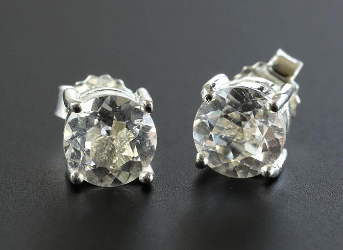 ツーソン2019!限定!フレッシュパワー!ハーキマーダイヤモンドのシルバー925ピアス    【2】      【天然石・パワーストーン】