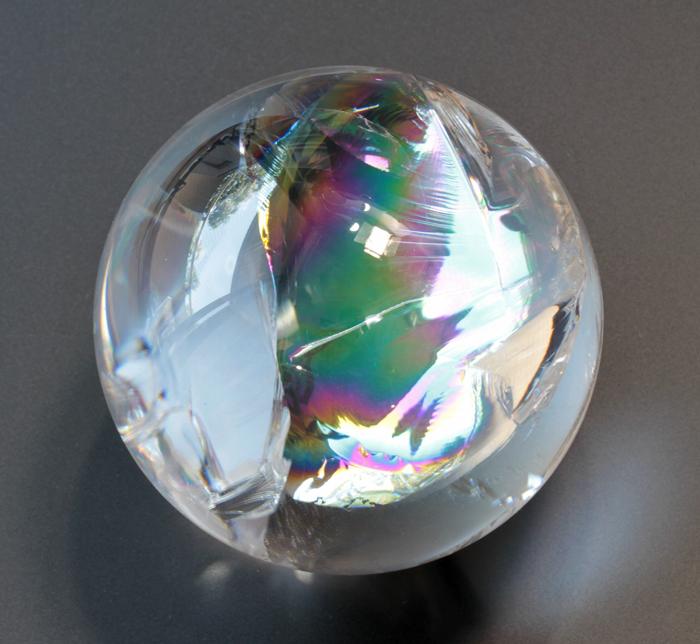 限定!最高級!レインボー水晶SAの丸玉  74mm