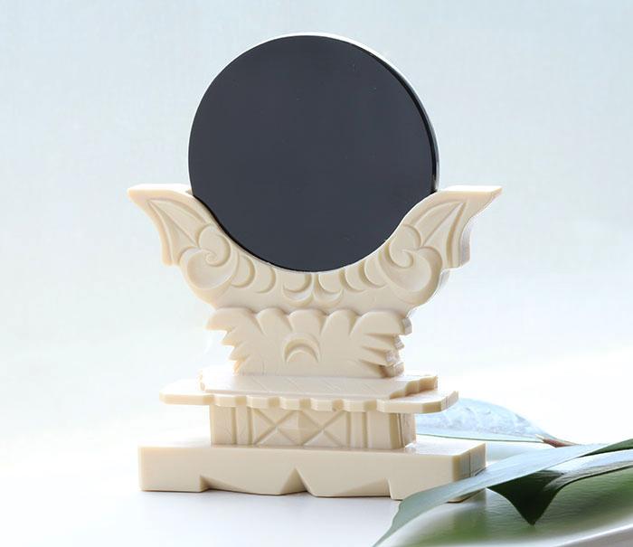 【伊勢浄化済み】 隠岐の黒曜石=オブシディアンの神鏡    【パワーストーン/天然石】