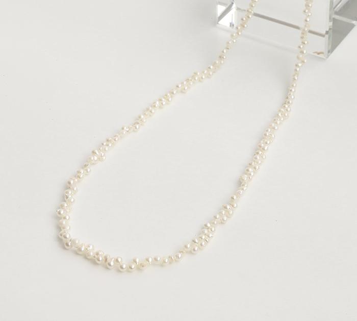 【伊勢浄化済み】真珠化学研究所鑑別書付★アコヤ貝真珠のベビーパール 4mm前後ネックレス    約48cm      1