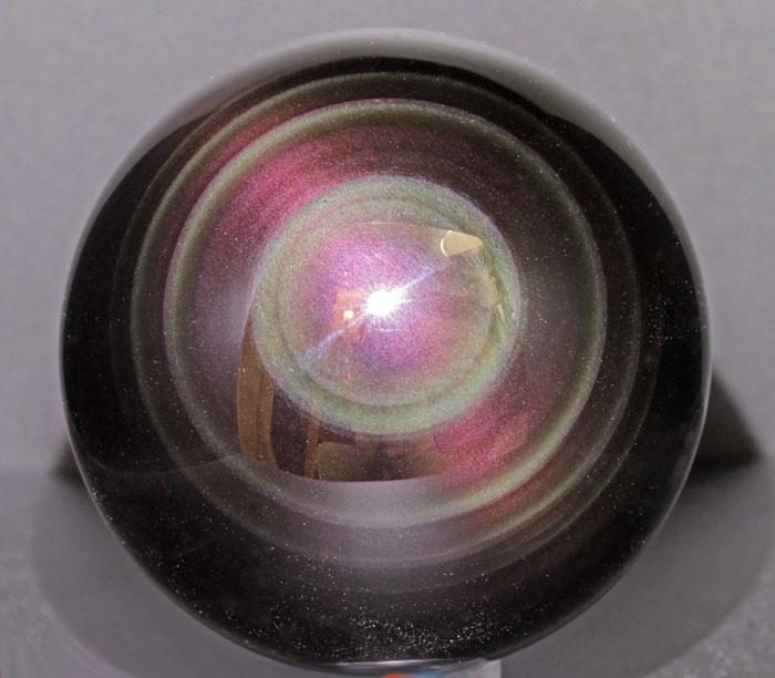 限定☆レインボーオブシディアンの丸玉  1   【パワーストーン/天然石】
