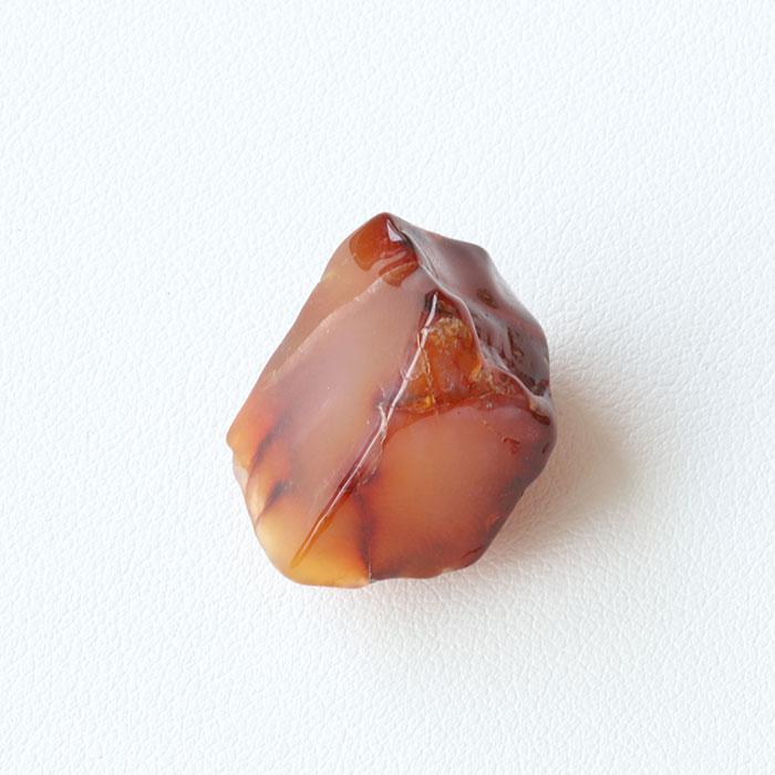 【伊勢浄化済み】 赤瑪瑙(アゲート・カーネリアン)原石   約 20.8× 12.9mm No.9   【パワーストーン,天然石】