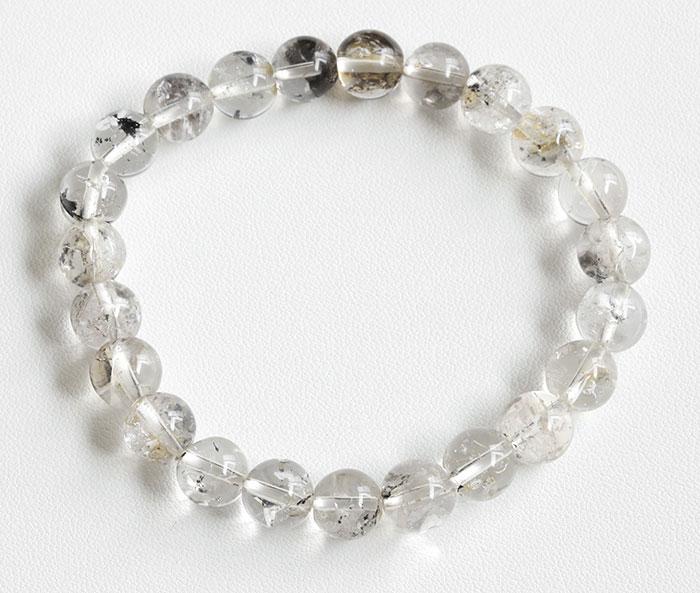 証明書付!レア!オイル入りハーキマーダイヤモンドの8mmブレスレット  8  【天然石・パワーストーン】