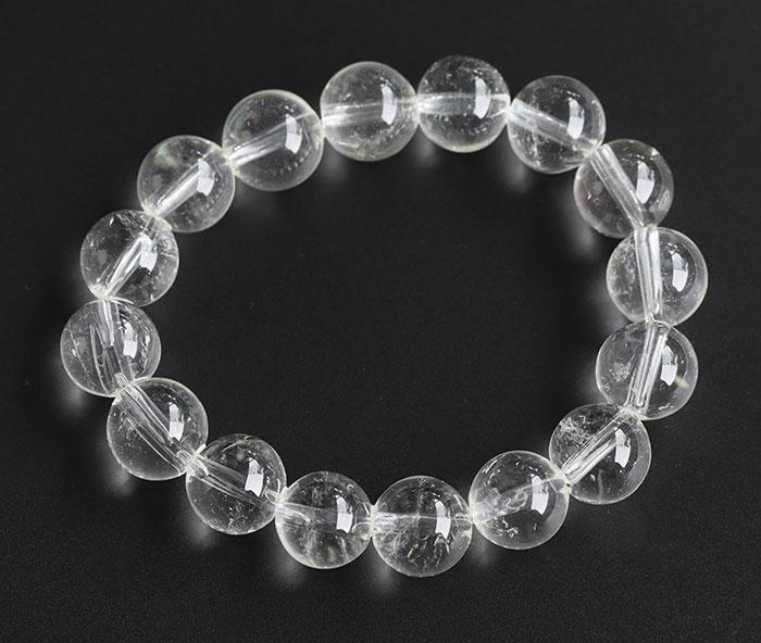 限定入荷!聖山カイラス産の水晶ブレスレット   10   12~12.6mm        【パワーストーン/天然石】