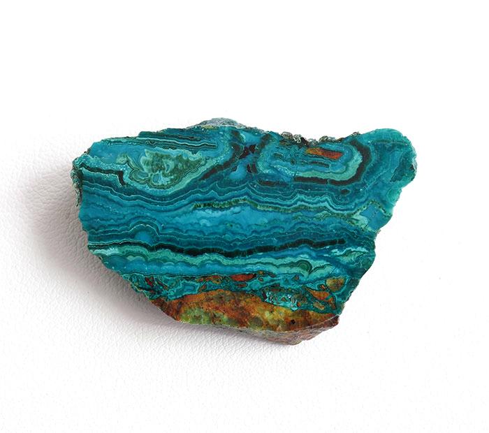 ツーソン2020!アリゾナ産クリソコラのスライス  42.5×27mm  【3】         【天然石・パワーストーン】