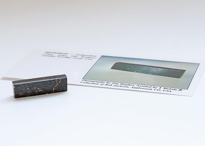 【直筆シール付】 A.Melody♪の著書掲載品メテオライト    37.5×10.7mm        【天然石・パワーストーン】