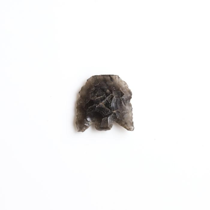 限定!カケあり縄文時代の和田峠の黒曜石=オブシディアンの矢尻【約16.5×15.8mm】 12