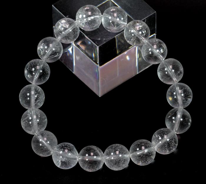 超限定【証明書付】ヒマラヤ・ネパール産のアンナプルナ水晶10mmブレス  【クリアタイプ】   /4月 【天然石・パワーストーン】