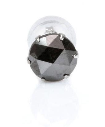 最安値!ブラックダイアモンド(ダイヤモンド)AAAのローズカット Pt900ピアス【片耳】  /4月【パワーストーン・天然石】