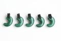 限定!グリーンアベンチュリンのSAの勾玉まくらめペンダント  30mm    ブラックカラー   【タイプ2】         パワーストーン/天然石