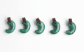 限定!グリーンアベンチュリンのSAの勾玉まくらめペンダント 30mm    ブラウンカラー  【タイプ6】         パワーストーン/天然石