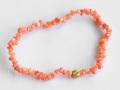 伊勢浄化済み!新春特価!激安!天然モモイロ珊瑚 K18Gさざれブレスレット    /3月【パワーストーン,天然石】