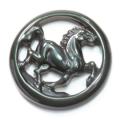 限定!高品質!レインボーオブシディアンの馬カービングPT  【天然石・パワーストーン】