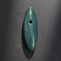 【伊勢浄化済み】貴重な出雲産 青めのう(碧石)大珠型   約 50mm   No.1      【パワーストーン,天然石】ise1