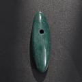 【伊勢】貴重な出雲産 青めのう(碧石)大珠型   約 50mm   No.2     【パワーストーン,天然石】ise1