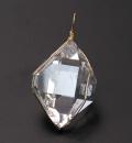 ツーソン2017 ハーキマーダイヤモンドの特大 K18Gペンダント    【パワーストーン/天然石】