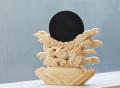 【伊勢浄化済み】 隠岐の黒曜石=オブシディアンの神鏡(大)     【パワーストーン/天然石】