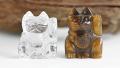 限定☆水晶とタイガーアイのお猫様招福セット 招き猫    1    【パワーストーン・天然石】