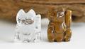 限定☆水晶とタイガーアイのお猫様招福セット 招き猫    2    【パワーストーン・天然石】