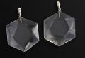 【伊勢】ブラジル産水晶のプラチナ900 ダビデの星ペンダント    LLサイズ    30mm    【4】