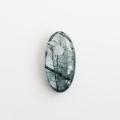 【伊勢】ザギマウンテン産 リーベカイト入り水晶の大珠  27.1×14mm    【2】