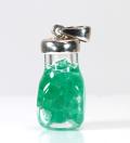 ツーソン価格!140ドル★コロンビア La Pita(ラピタ)産のエメラルドボトルペンダント 2  /5月【パワーストーン/天然石】