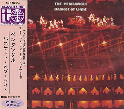THE PENTANGLE/Basket Of Light(バスケット・オブ・ライト)(Used CD) (1969/3rd) (ザ・ペンタングル/UK)