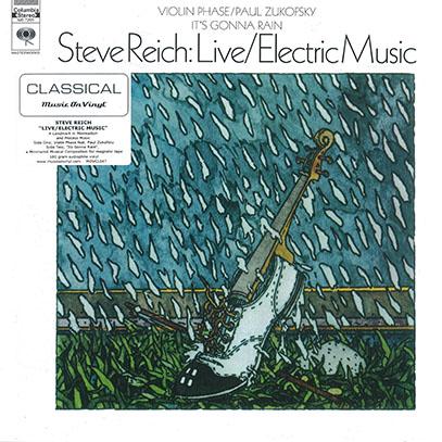 STEVE REICH/Live/Electric Music(LP) (1968/1st) (スティーヴ・ライヒ/USA)