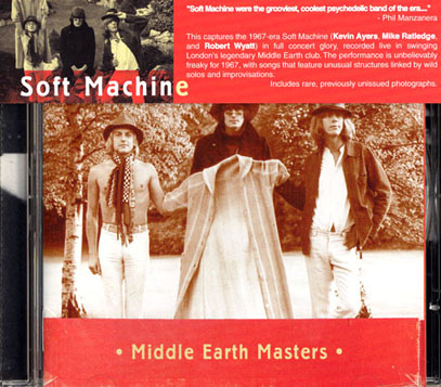 SOFT MACHINE/Middle Earth Masters (1967-68/Live) (ソフト・マシーン/UK)
