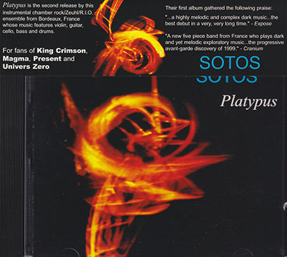 SOTOS/Platypus(Used CD) (2002/2nd) (ソトス/France)