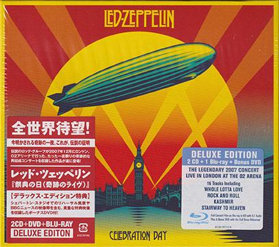 LED ZEPPELIN/Celebration Day: 4Discs Deluxe Edition(Used 2CD+Blu-ray+DVD) (2007/Live) (レッド・ツェッペリン/UK)