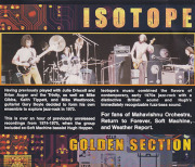 ISOTOPE/Golden Section(Used CD) (1974-75/Unreleased Live) (アイソトープ/UK)