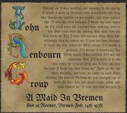 JOHN RENBOURN GROUP/A Maid In Bremen (1978/Live) (ジョン・レンボーン・グループ/UK)