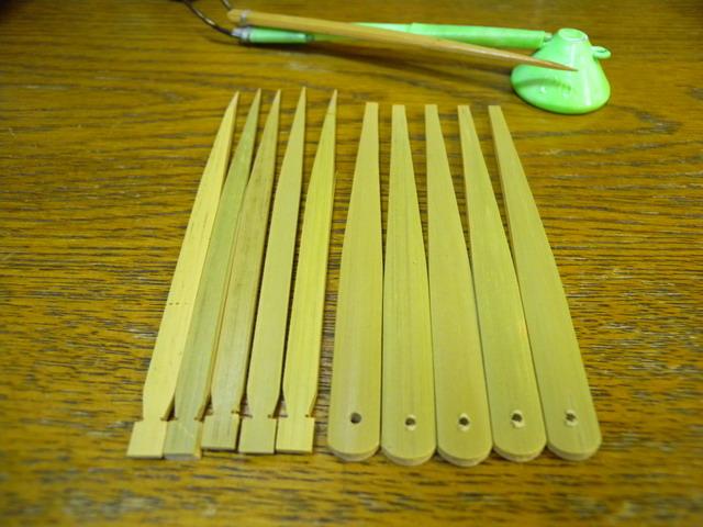【釣道具まるかつ】オリジナル スミイカテンヤ作成キット 羽子板&串(竹製) 5本組みセット