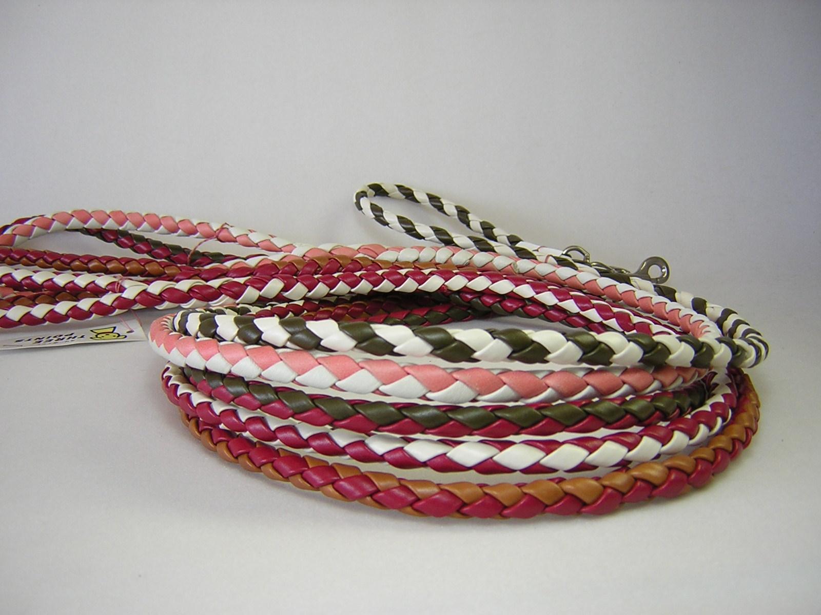 4つ編み丸リード 中型犬用