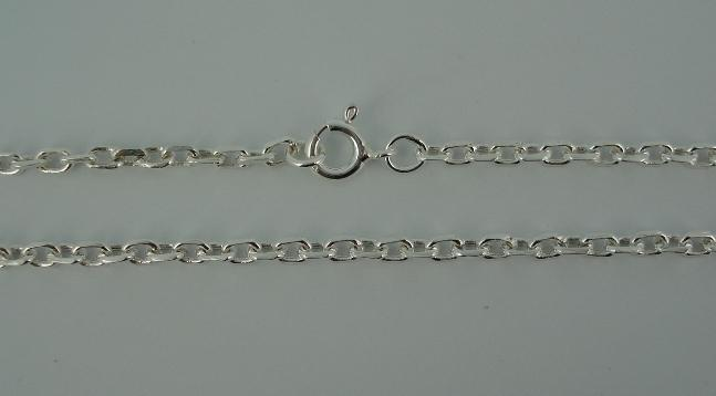 Silver Chain(シルバーチェーン) 4mm Square Oval Chain(4mm スクエアーオーバルチェーン)